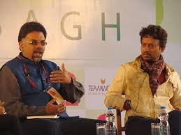 Actor Irfan Khan (right) at a poetry reading session... pic:indiabookstore.net