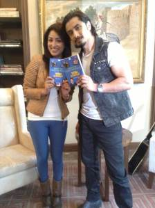 Actors Yaami Gautam and Ali Zafar  promoting the Total Siyappa book