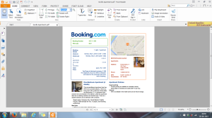 Booking.com hotel reservation